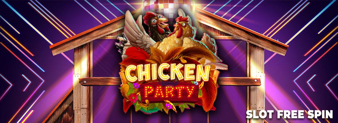 chicken party game banner