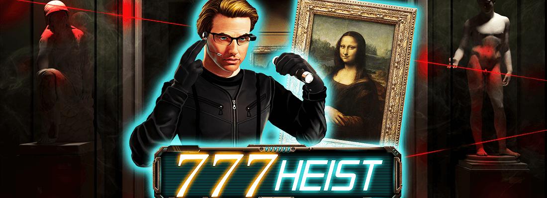 777 heist slot game banner