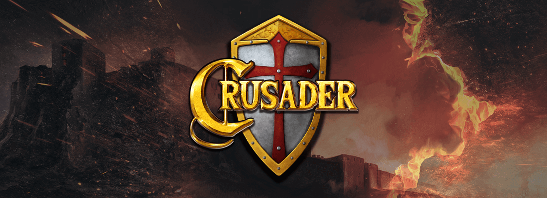 crusader slot game banner