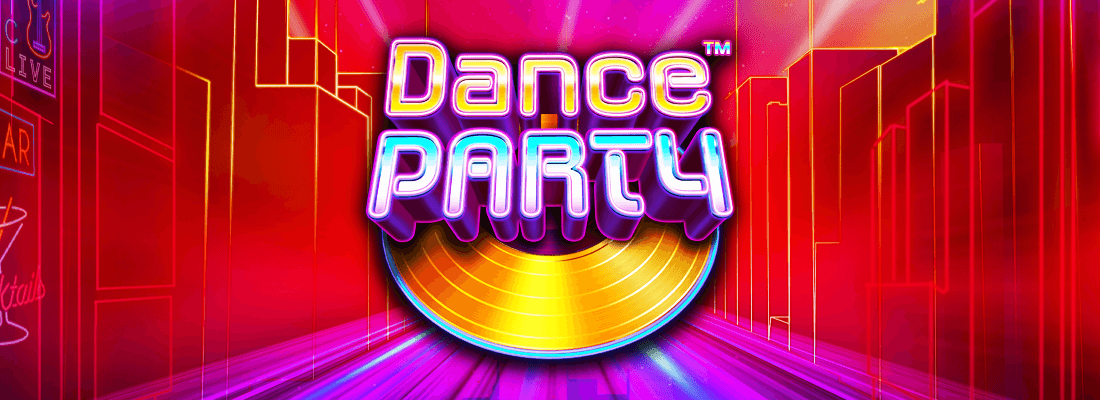 dance party slot game banner
