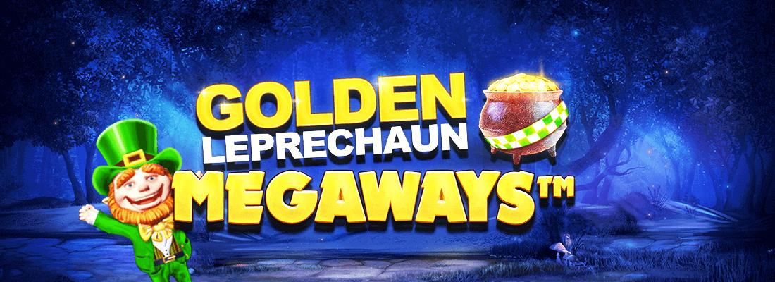 golden leprechaun megaways slot game banner