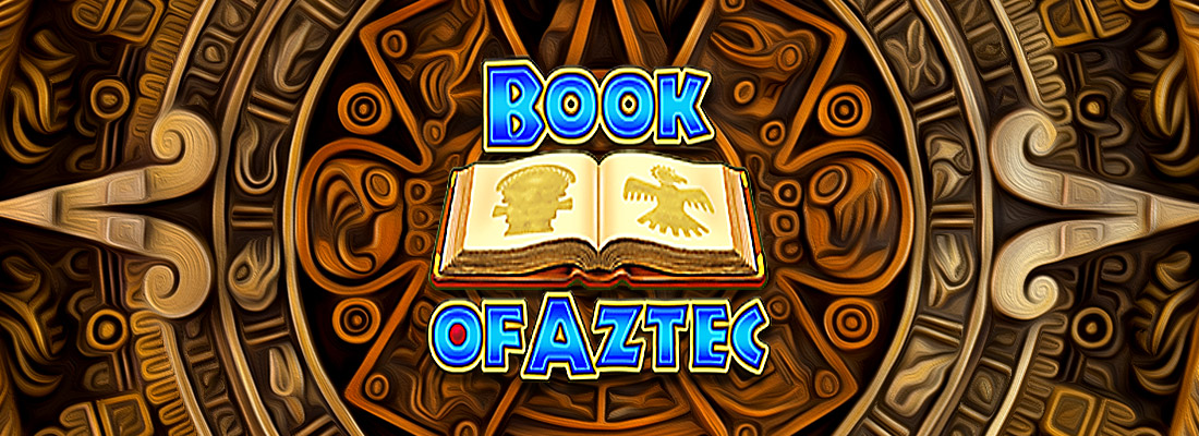 book of aztec slot game banner