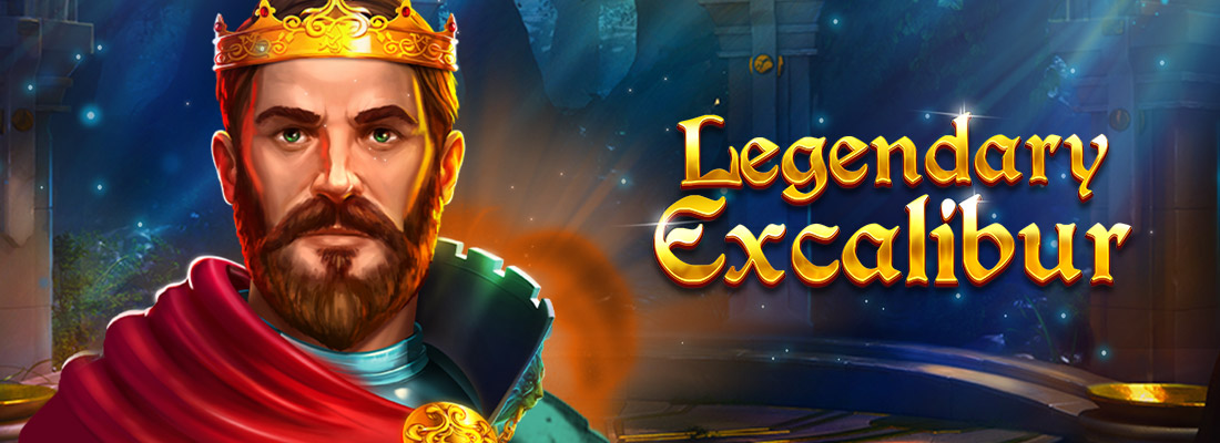 legendary excalibur slot game banner