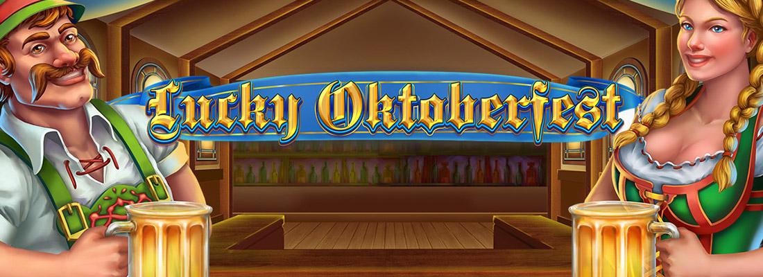 lucky oktoberfest slot game banner