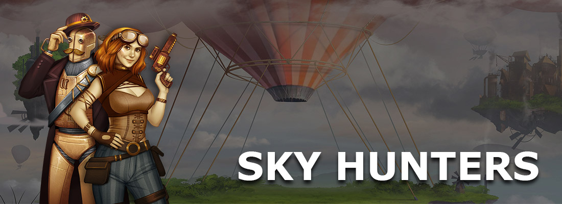 sky hunters slot game banner
