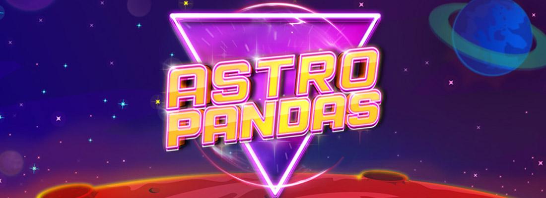 astro pandas slot game banner