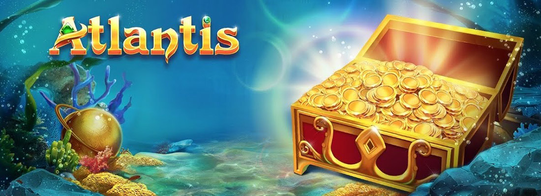 atlantis slot game banner