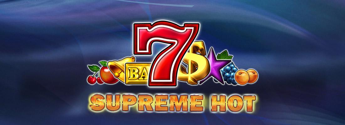 supreme hot slot game banner