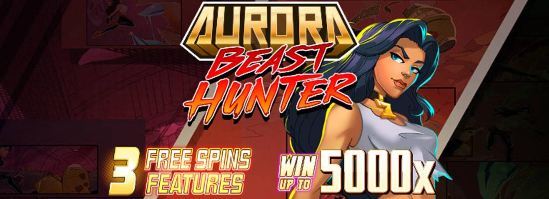 aurora beast hunter slot game banner
