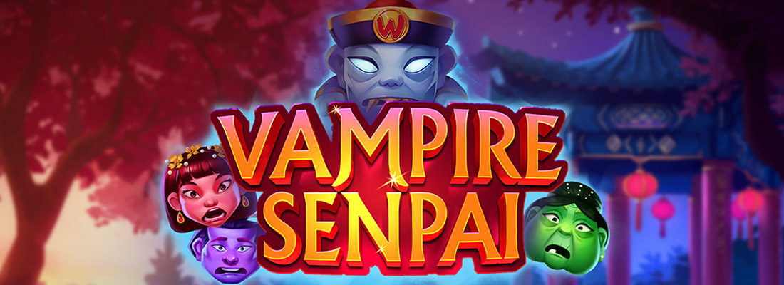vampire senpai slot game banner